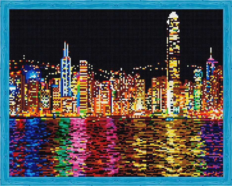 Алмазная вышивка «Ночной Гонконг»