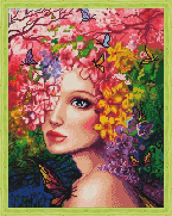 Купить Алмазная вышивка «Весенняя фея», Цветной