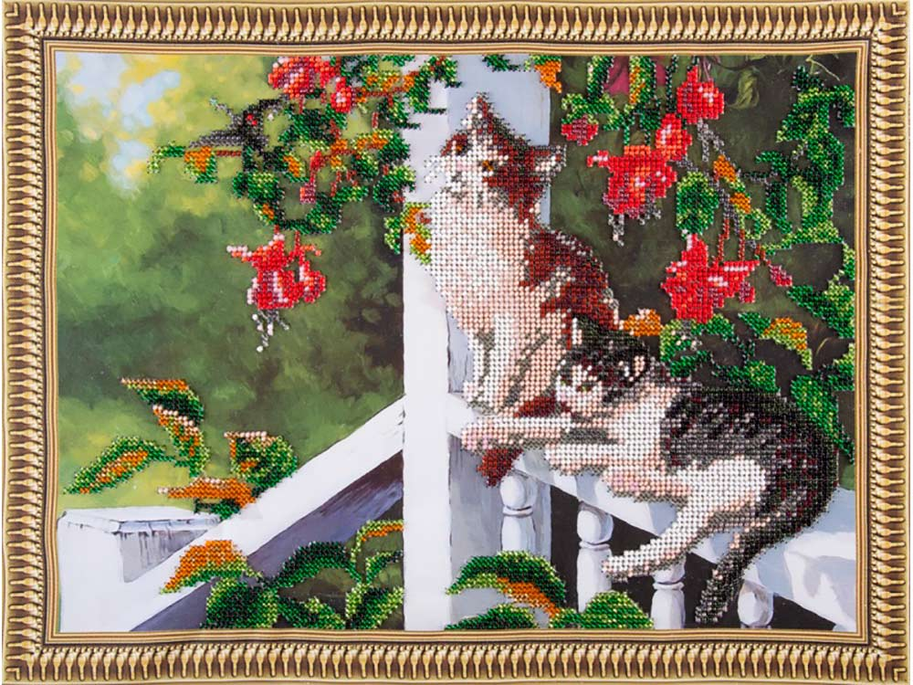 Купить Вышивка бисером, Набор вышивки бисером «Котята в саду», Color KIT