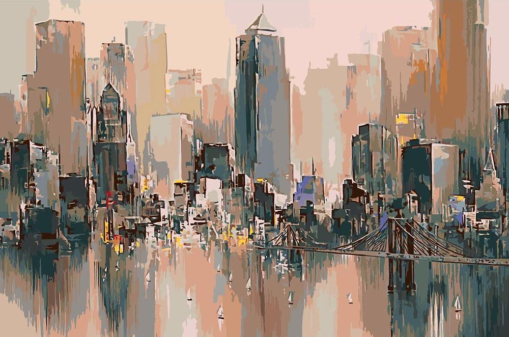 Картина по номерам «Туманный пейзаж» Уилфреда Лэнга