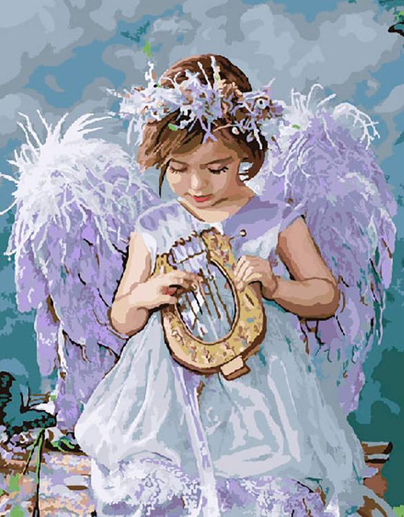 Купить Картина по номерам «Девочка с арфой» Лизы Джейн, ВанГогВоМне