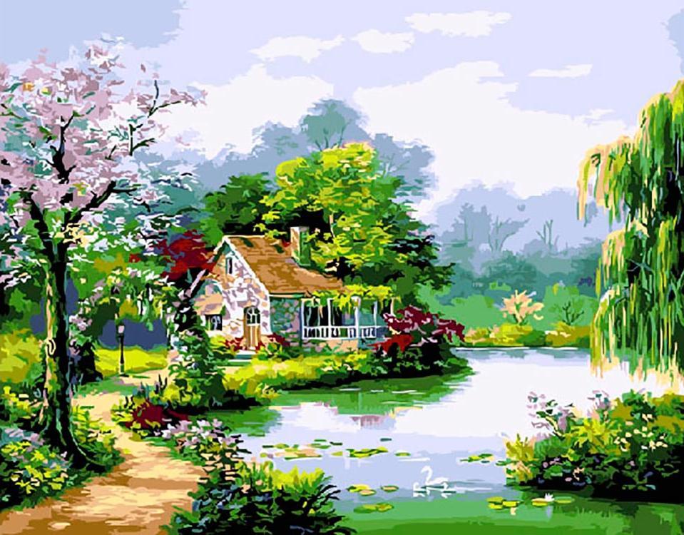 Купить Картина по номерам «Дорога к дому» Сен Кима, ВанГогВоМне