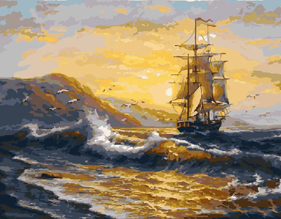 Картина по номерам «Волнение моря» Сергея Минаева
