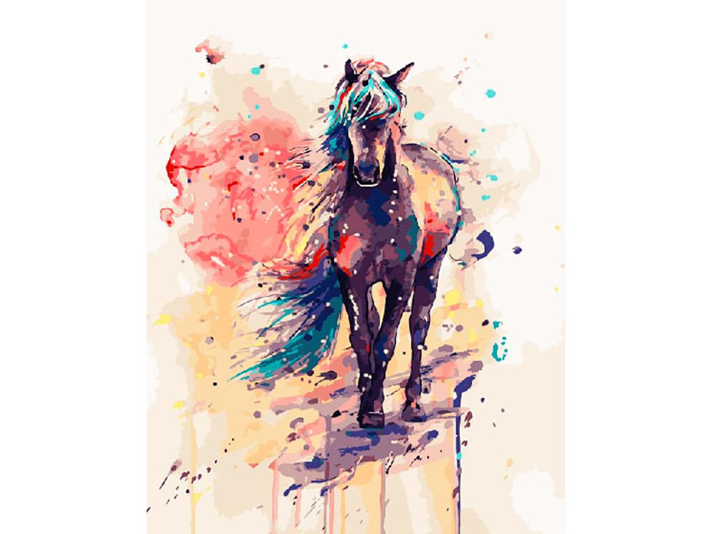 Купить Картина по номерам «Лошадка» Елены Швед, ВанГогВоМне