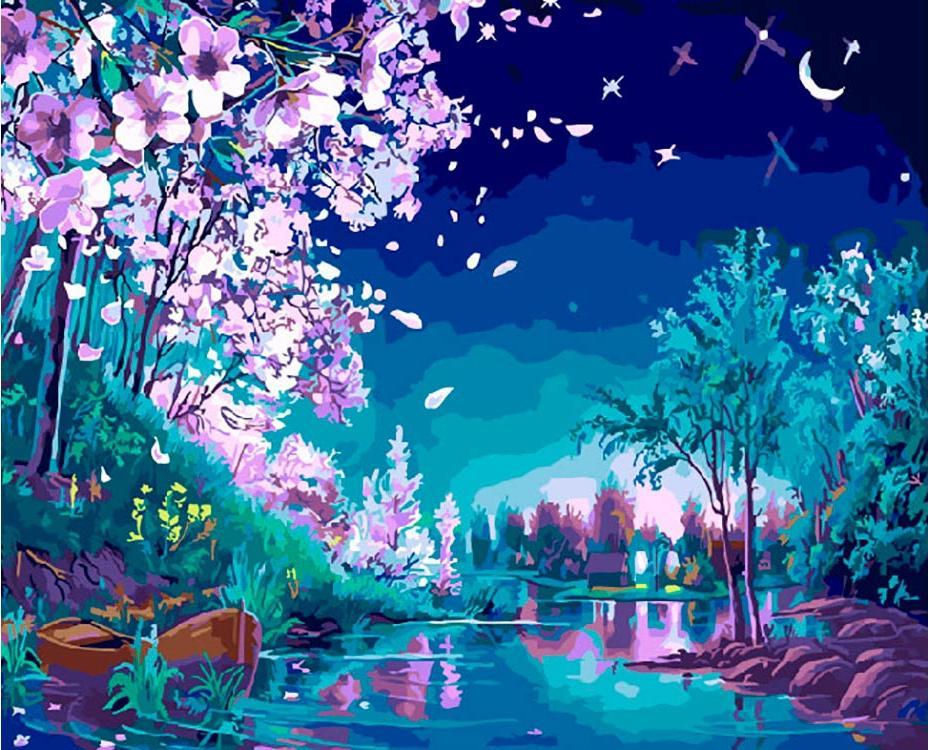 Картина по номерам «Волшебная ночь» Виктора Цыганова