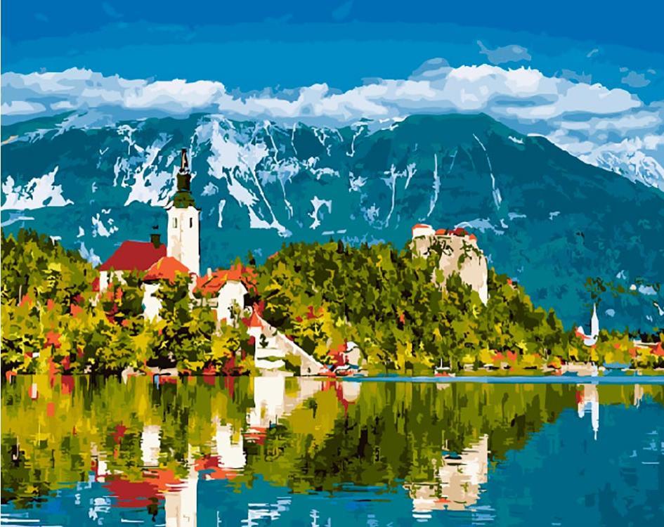 Картина по номерам «Альпийская деревня»