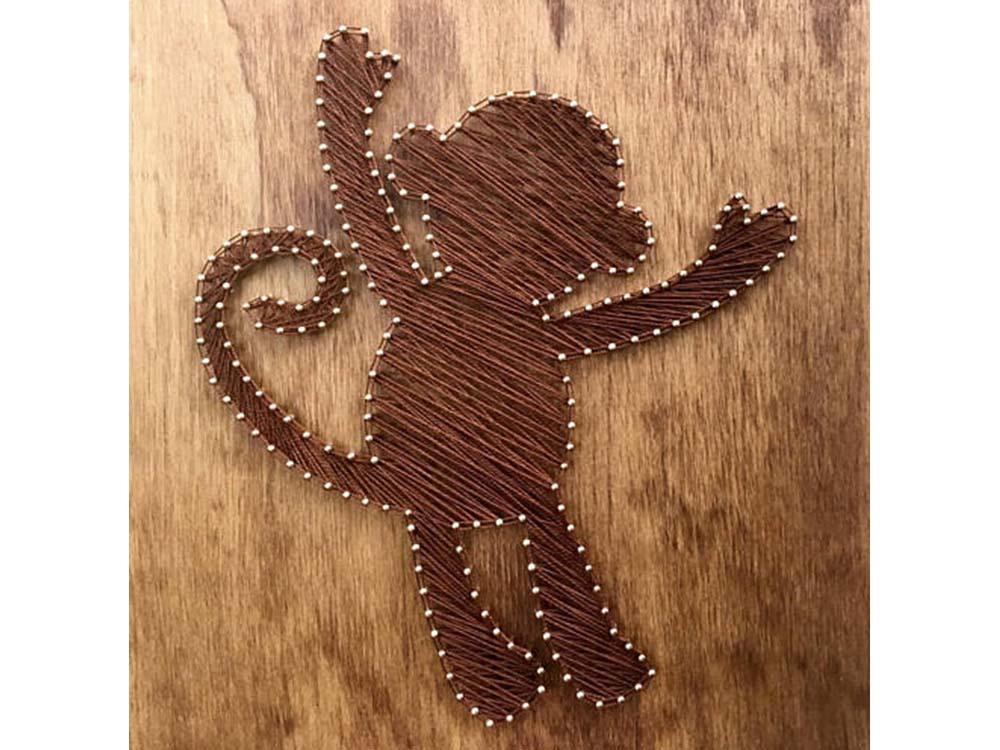 Купить Набор для творчества STRING ART «Обезьянка», Woodberry