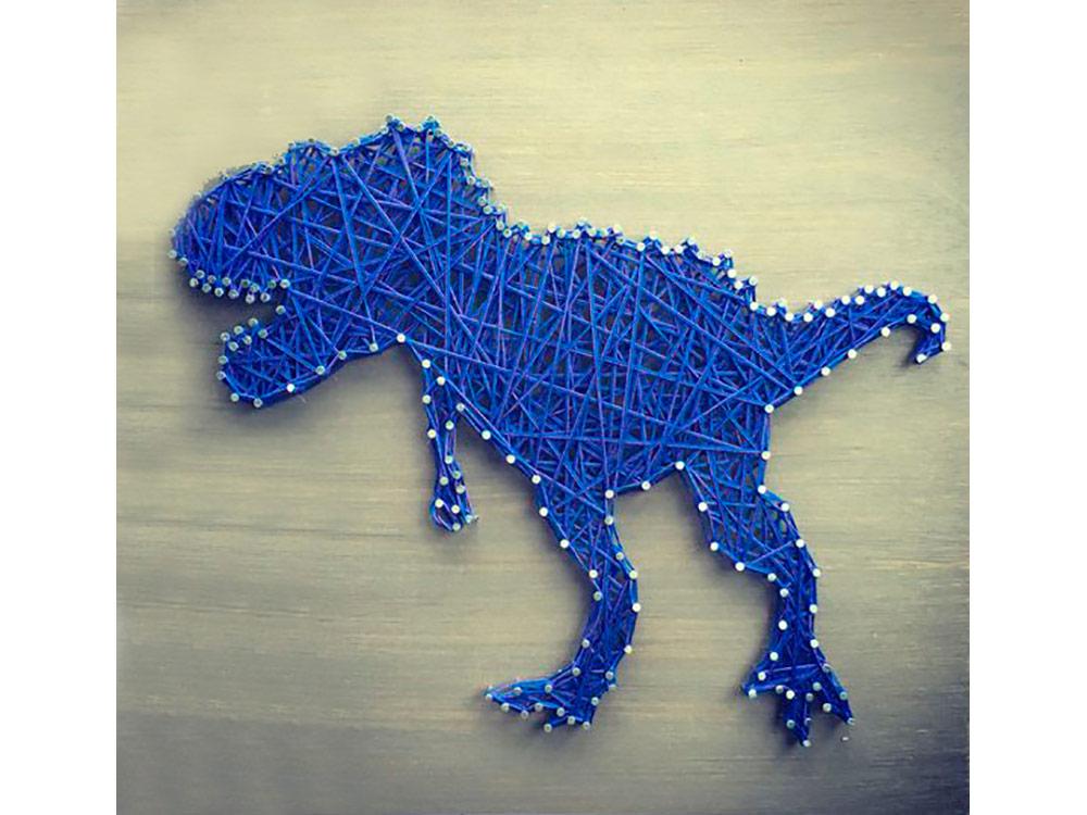 Купить Набор для творчества STRING ART «Тираннозавр», Woodberry