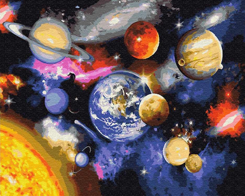 Картина по номерам «Парад планет»