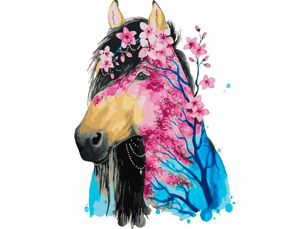 Купить Картина по номерам «Цветная лошадка» Джонны Ламминахо, Paintboy (Premium), Китай