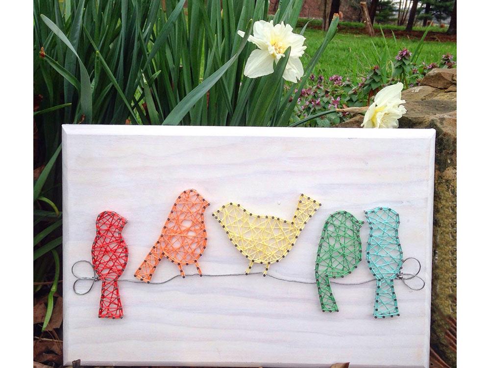 Купить Набор для творчества STRING ART «Птички», Woodberry