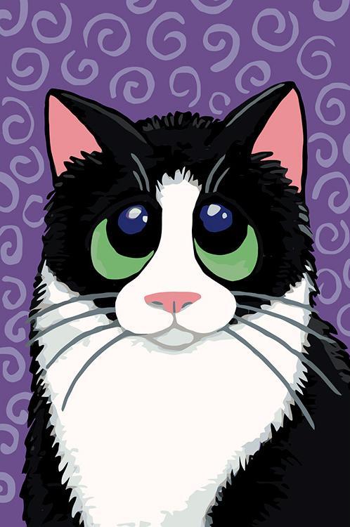 Купить Картина по номерам «Наивный кот» Лизы Мари Робинсон, Живопись по Номерам, Китай