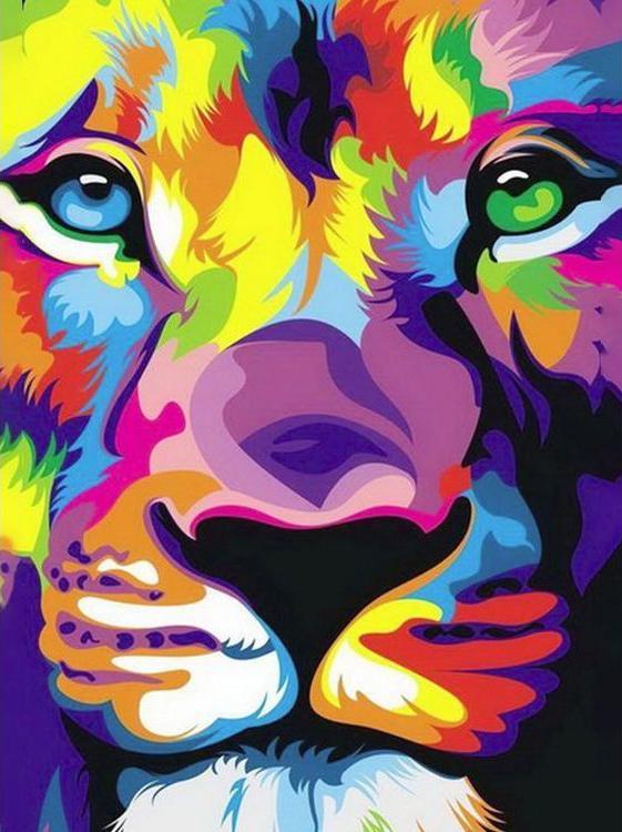 Купить Алмазная вышивка «Взгляд льва», Гранни, 15x20 см, Ag 2265