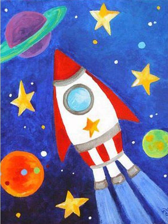 Купить Алмазная вышивка «Космический корабль», Гранни, 15x20 см, Ag 2267