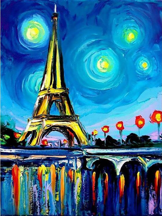 Купить Алмазная вышивка «Парижский пейзаж», Гранни, 15x20 см, Ag 2270