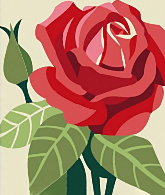 Алмазная вышивка «Роза», Гранни  - купить со скидкой