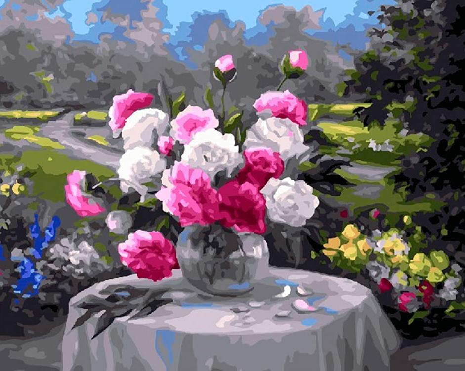 Купить Картина по номерам «Букет на столе» Анки Булгару, Paintboy (Premium)