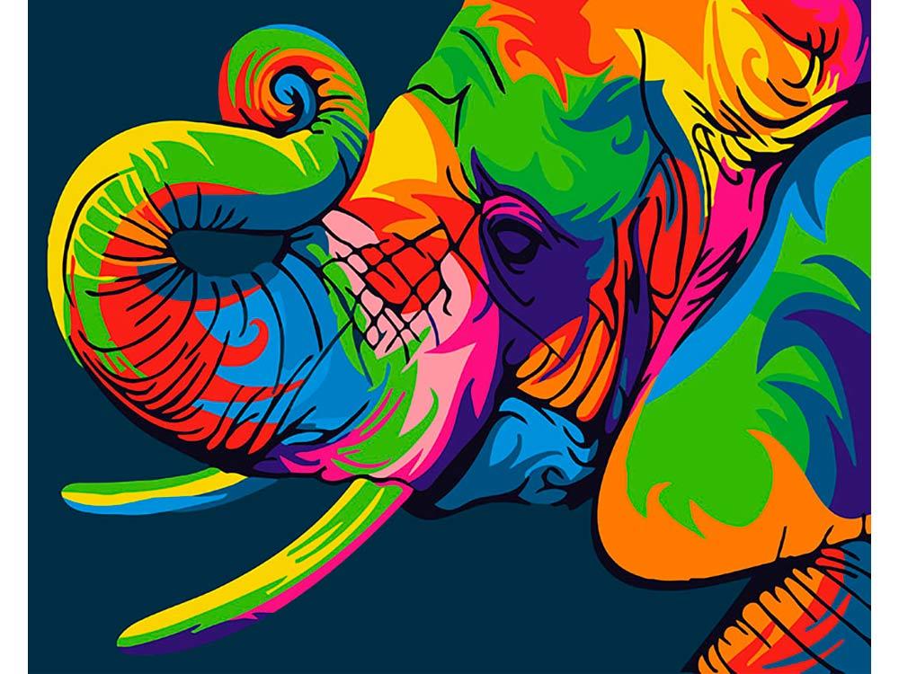 Купить Картина по номерам «Радужный слон», Paintboy (Premium), Китай, GX26196