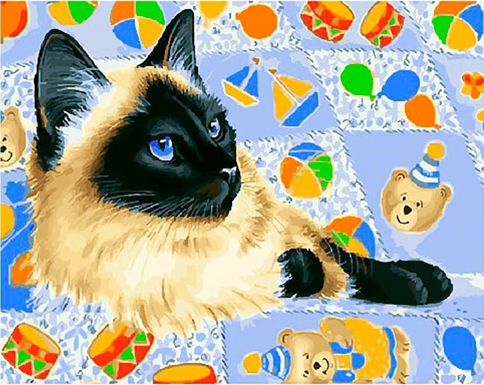 Картина по номерам «Прекрасная кошка» Ирины Гармашовой, «Прекрасная кошка»