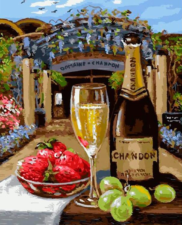 Картина по номерам «Вино и фрукты» Имре Бувари