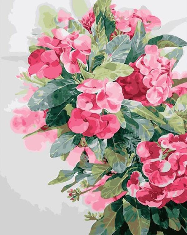 Купить Картина по номерам «Акварельные цветы» Kitipong Maksin, Paintboy (Premium), Китай