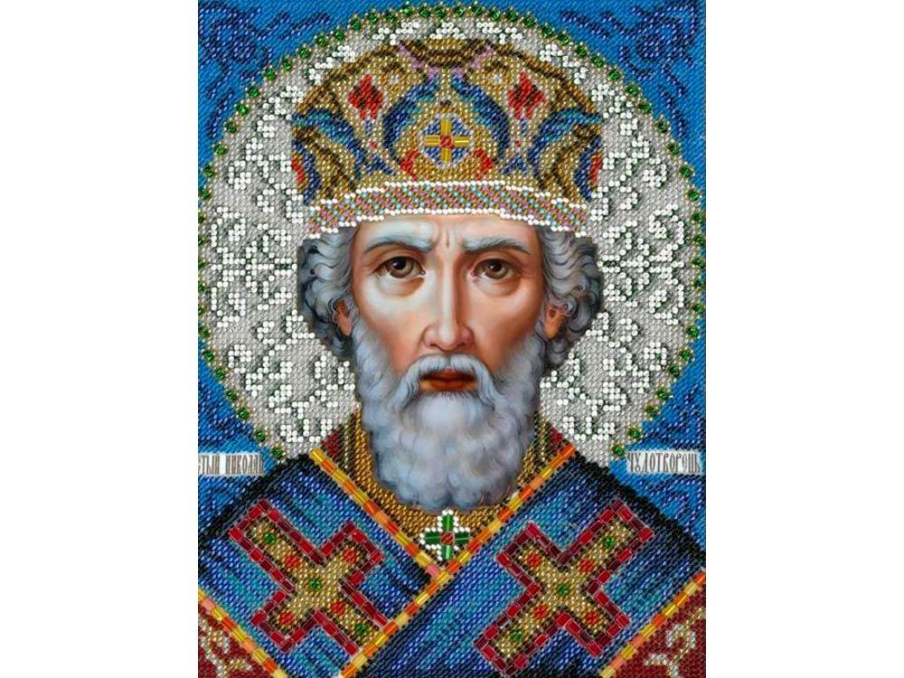 Купить Вышивка бисером, Набор вышивки бисером «Святой Николай Чудотворец», Вышиваем бисером