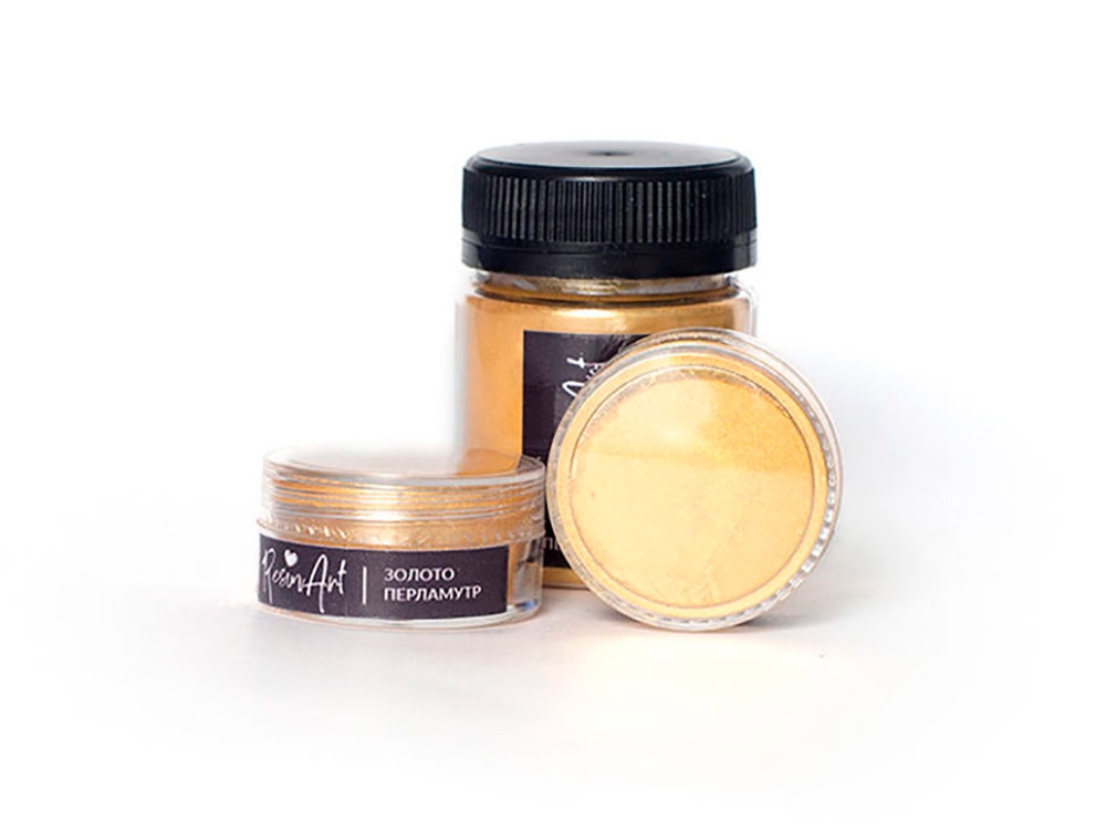 Купить Перламутровый пигмент для смолы - золото 10 мл, ResinArt