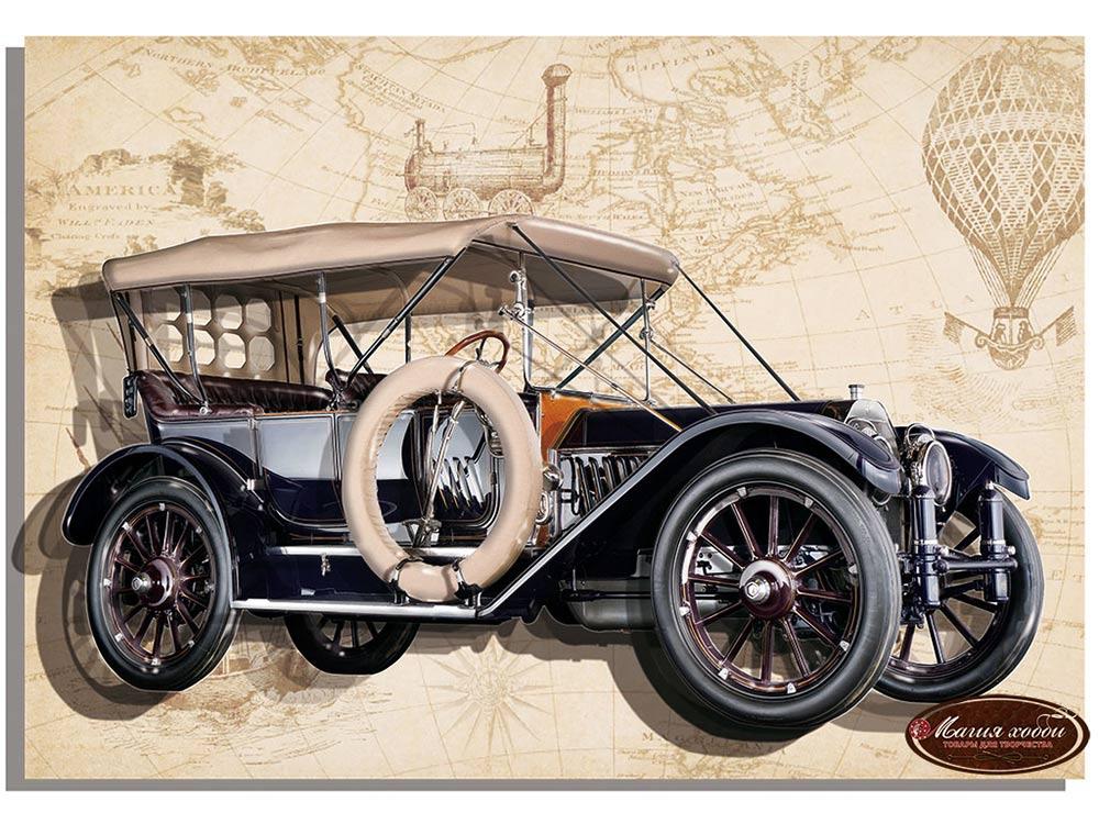 Папертоль «Ретро Oldsmobile (синий)»