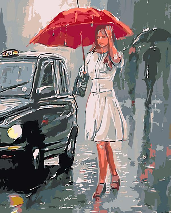 Картина по номерам «Под проливным дождем» Пита Рамни