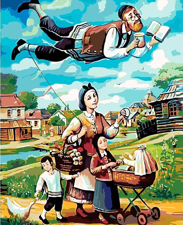 Картина по номерам «Счастливая семья» Бориса Шапиро