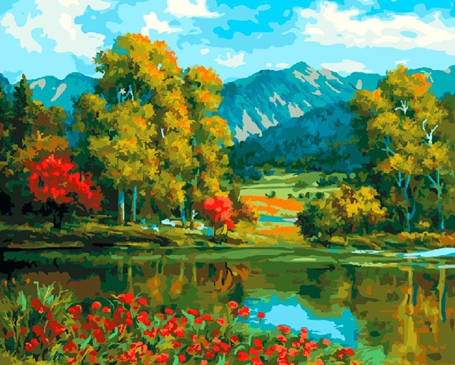 Картина по номерам «Красивая долина» Кан Юнг Хо