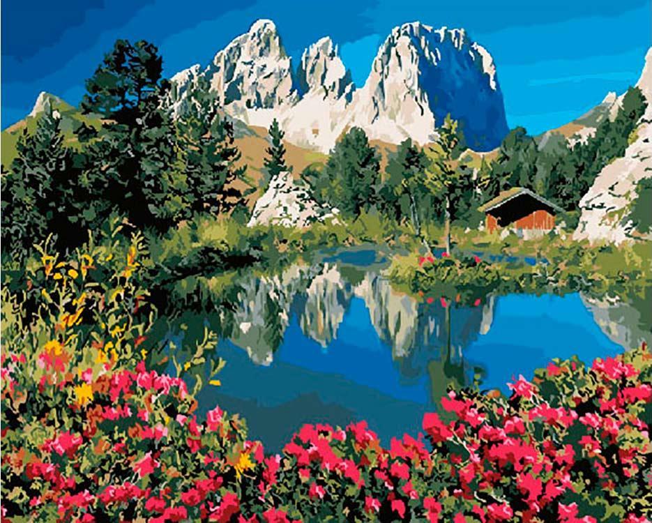 Картина по номерам «Доломитовые Альпы»