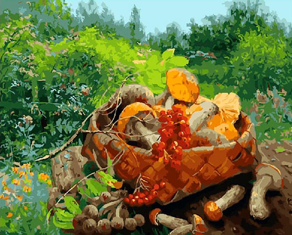 Картина по номерам «Грибная корзинка» Владимира Жданова