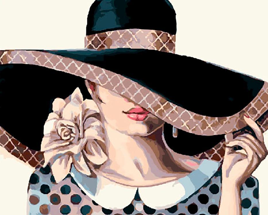 Картина по номерам «Дама в шляпе» Триш Биддл