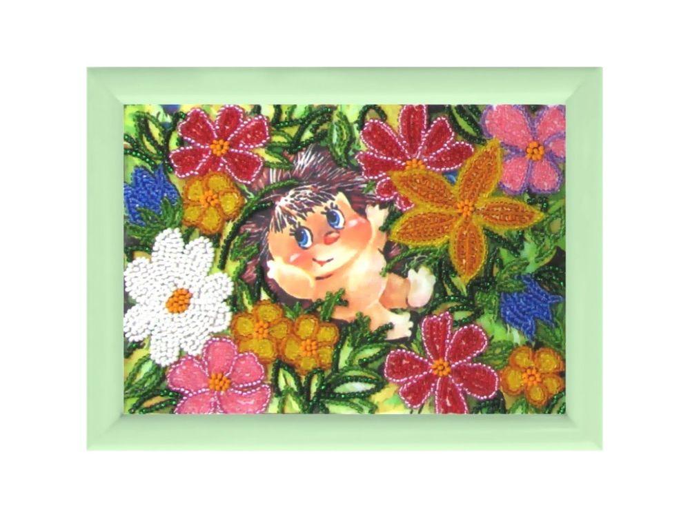 Купить Рисунок на ткани «Ёжик в цветах», Butterfly, 932