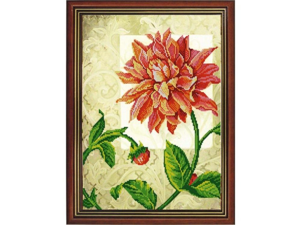 Рисунок на ткани «Георгина» фото