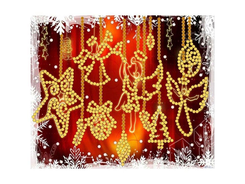 Рисунок на ткани «С Рождеством!» фото