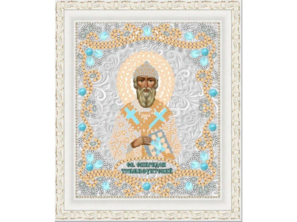 Рисунок на ткани «Св. Спиридон Тримифунтский» Конёк фото