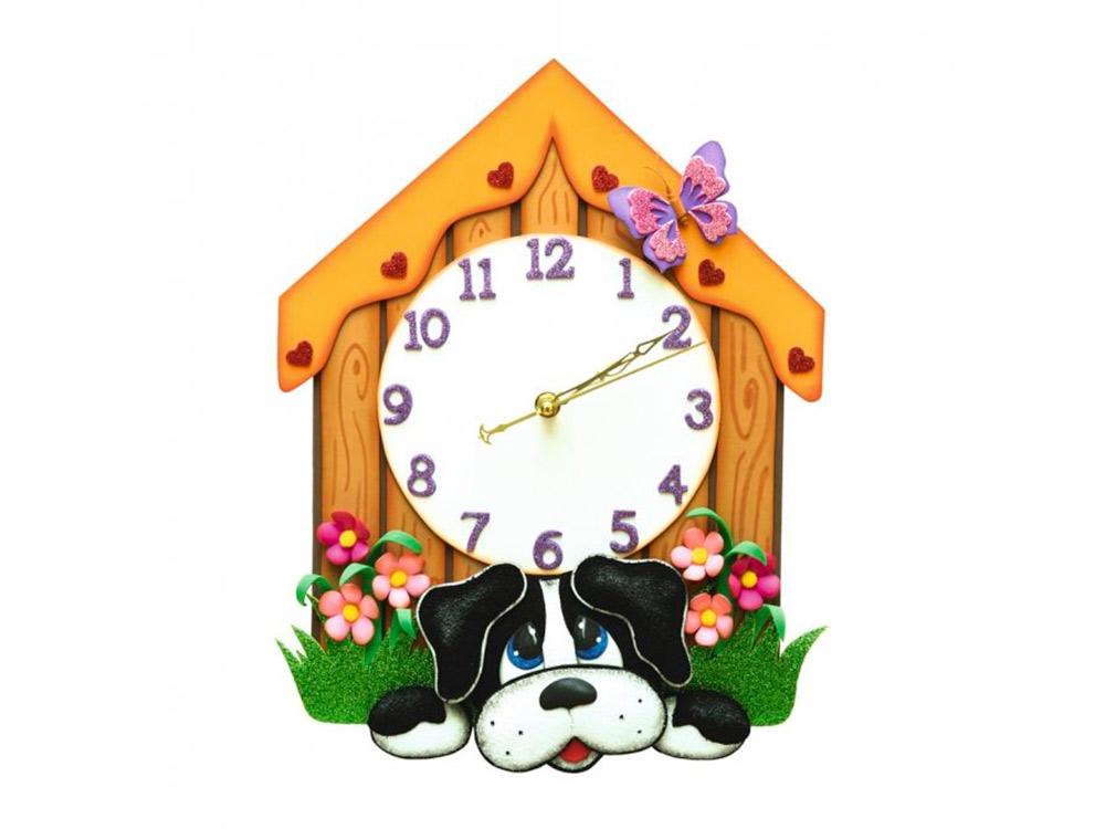Часы из фоамирана «Щенок»