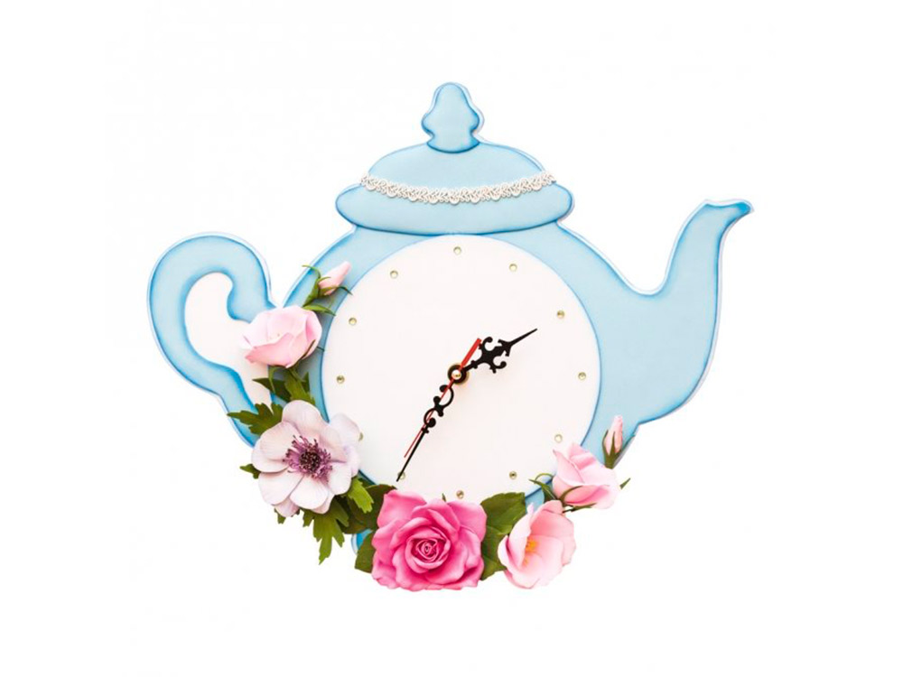 Часы из фоамирана «Чайник»