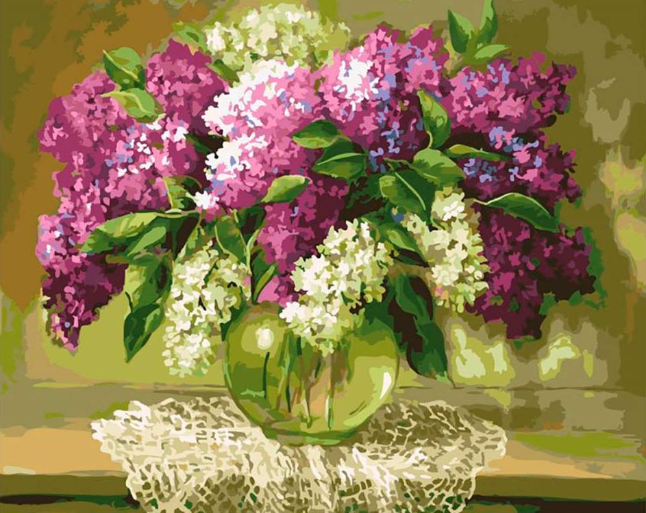 Картина по номерам «Сирень на столе», Paintboy (Original)  - купить со скидкой