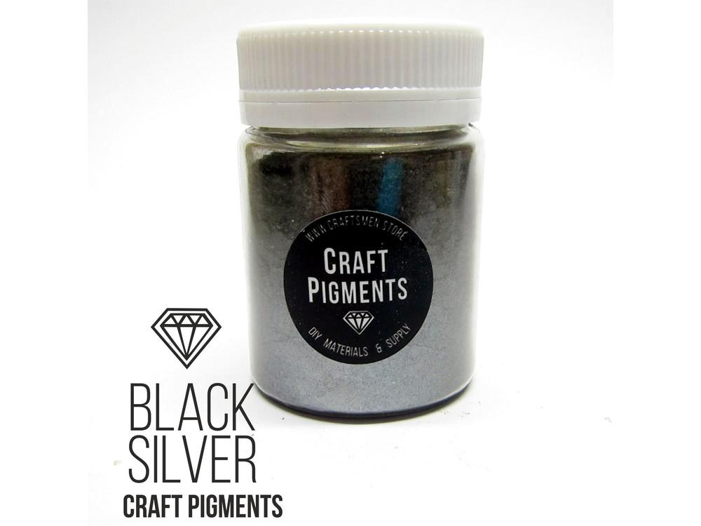 Купить Пигмент минеральный темное серебро (Black Silver) 10 мл, CraftPigments, Craftsmen.store