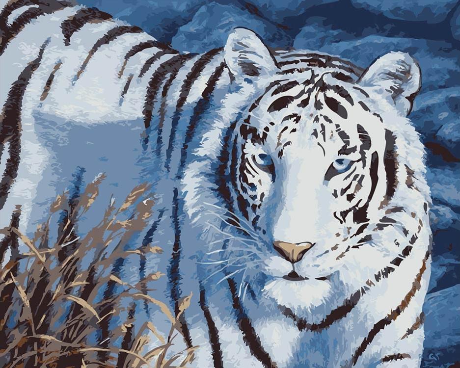 Купить Картина по номерам «Снежный тигр» Кристы Форест, ВанГогВоМне