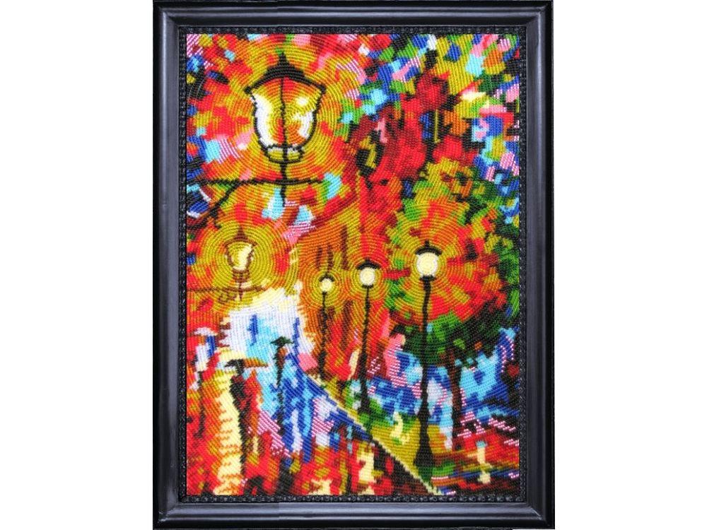 Купить Вышивка бисером, Набор для вышивания бисером «Фонари», Butterfly, 32x23 см, 313