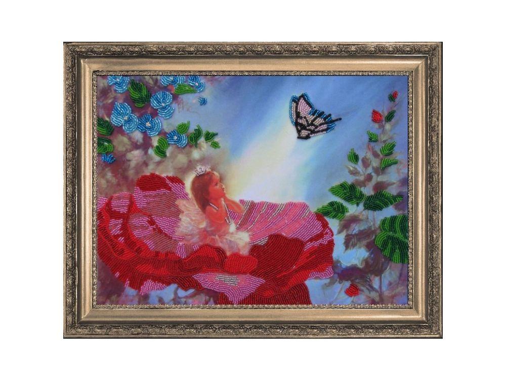 Купить Вышивка бисером, Набор для вышивания бисером «Маленькая фея», Butterfly, 24x33 см, 405