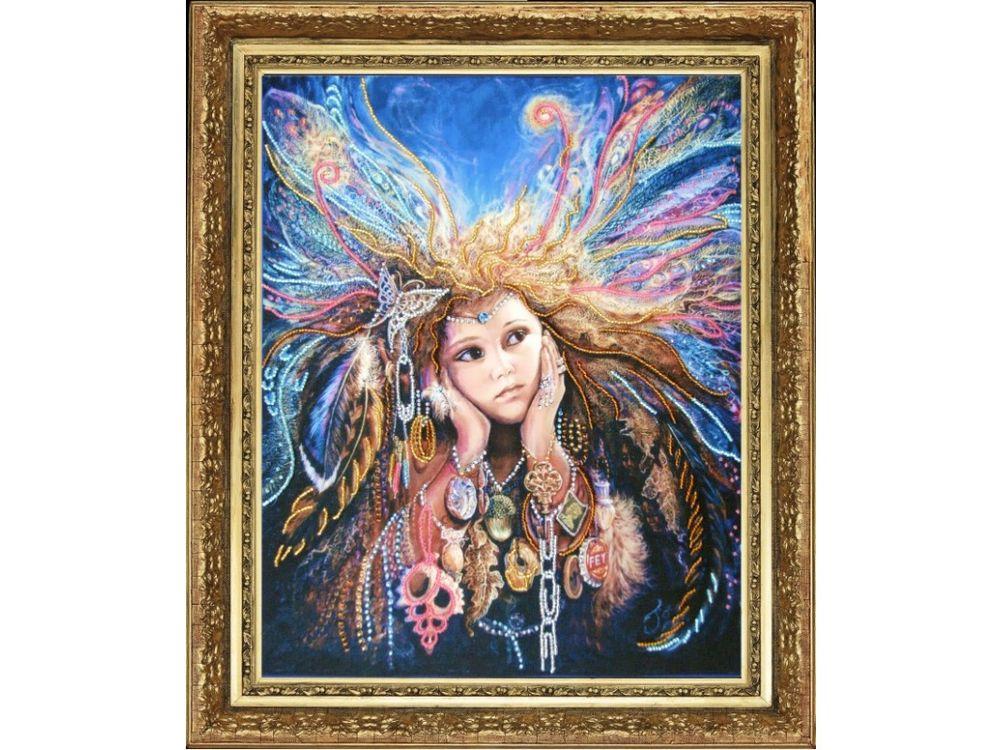 Купить Вышивка бисером, Набор для вышивания бисером «Фея птиц», Butterfly, 34x27 см, 459