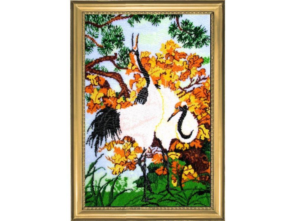 Купить Вышивка бисером, Набор для вышивания бисером «Журавли», Butterfly, 49x32 см, 513