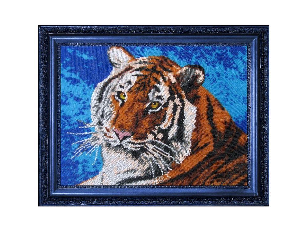 Купить Вышивка бисером, Набор для вышивания бисером «Тигр», Butterfly, 24x32 см, 553