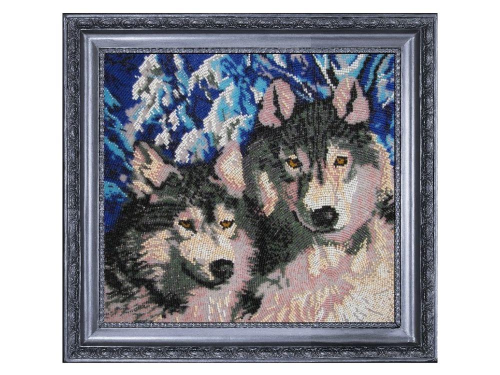 Купить Вышивка бисером, Набор для вышивания бисером «Волки», Butterfly, 27x30 см, 569