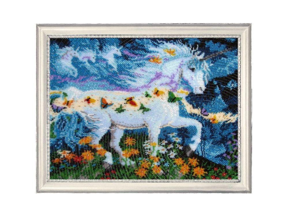 Купить Вышивка бисером, Набор для вышивания бисером «Единорог», Butterfly, 26x34 см, 597
